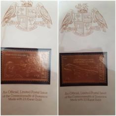 Album Dominica timbre foita aur 23k - setul complet de 30 timbre aviatie avioane