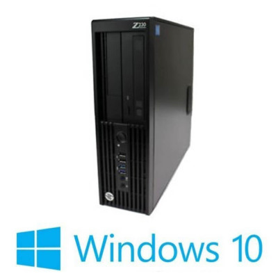 PC Refurbished HP Z230 SFF, Quad Core E3-1225 v3, Win 10 Home foto