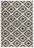 Covor Modern & Geometric Twin, Negru, 80x250, Bougari