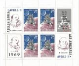 România, LP 704a/1969, Apollo 11, în bloc de 4, eroare, MNH