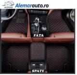 Covorase presuri interior model 5D Lux piele Tip Tavita dedicate Vw Passat B6 2005-2011 Negru+Rosu