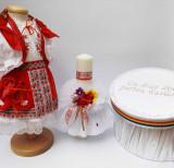 Cumpara ieftin Set Botez Traditional Marina 11 - 3 piese costumas, lumanare si cufar