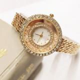 Ceas de dama rotund cu strasuri
