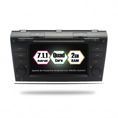 "Navigatie GPS Auto Audio Video cu DVD si Touchscreen 7 "" inch Android 7.1, Wi-Fi, 2GB DDR3 Mazda 3 2004-2009 + Cadou Soft si Harti GPS 16Gb Memorie In"