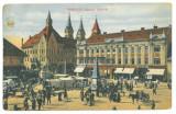 4759 - TIMISOARA, Market, Romania - old postcard - used - 1914, Circulata, Printata