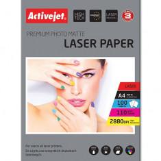 Hartie foto 100 file, A4 Premium 110 Gr Activejet, Laser
