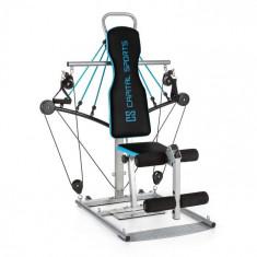 Capital Sports TUBEY, albastru, sală de fitness mini, cabluri din cauciuc, oțel