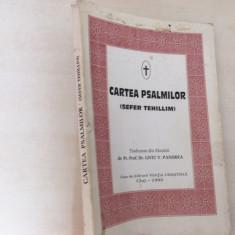 BIBLIA- CARTEA PSALMILOR/ SEFER TEHILLIM, TRADUCERE DIN EBRAICA. CLUJ 1993