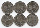 Romania Set 6 - 10 lei 1996 - Set Atlanta 6 monede - UNC !!!, Cupru-Nichel