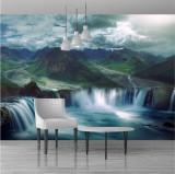 Fototapet cascada 390 x 260 cm - Tapet premium cu adeziv