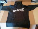 Hanorac din lana Lee Cooper cu gluga, barbati masura L / C61, Negru