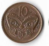 Moneda 10 cents 2014 - Noua Zeelanda