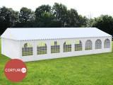 6x16 M CORT de EVENIMENTE PROFESSIONAL, PVC 500 g/m² alb, inaltime XXL 2,6m