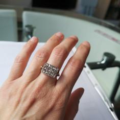 Vechi inel aur diamante naturale