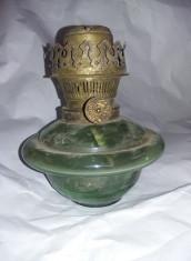 Lampa petrol veche cu fitil functionala fara sticla LAMPAGYAR BUDAPEST,T.GRATUIT foto