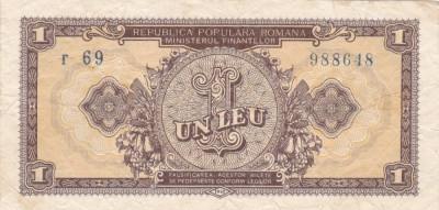 ROMANIA 1 LEU 1952 F foto