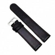 Curea pentru ceas din piele naturala antialergica Maro 8mm 10mm 12mm 14 mm 16mm 18mm 20mm 22mm C3065-432