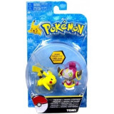 Pokemon, Hoopa vs Pikachu minifigurine 6 cm
