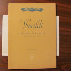 """GE - VIVALDI """"Concertul in La minor"""" / pentru studiul viorii"""