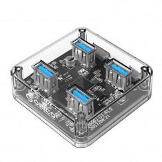 Hub USB Orico MH4U-U3-10 4x USB 3.0 Transparent