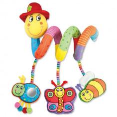 Jucarie pentru patut si carucior Wiggly Worm PlayLearn Toys, Galt