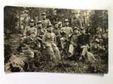 Fotografie veche grup de soldati - primul razboi mondial (2)