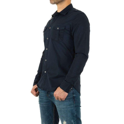 Camasa casual, de culoare bleumarin, cu maneci lungi - Y.Two Jeans foto