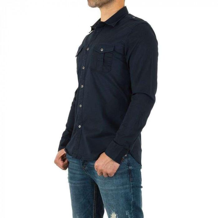 Camasa casual, de culoare bleumarin, cu maneci lungi - Y.Two Jeans