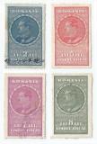 România, lot 227 cu 4 timbre fiscale generale, Carol al II-lea,1932, oblit.