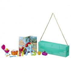 Set Hasbro My Little Pony, poseta cu ponei si accesorii, Rainbow Dash