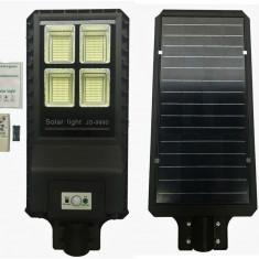Proiector LED 90w cu panou solar senzor miscare lumina telecomanda 432 leduri