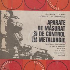 Aparate de masurat si de control in metalurgie
