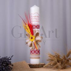 Lumanare Traditionala Cu drag de la nasi