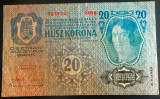 Bancnota ISTORICA 20 COROANE - AUSTRO-UNGARIA (AUSTRIA), anul 1913  *cod 189 B