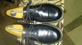 Pantofi de barbati negri marimea 42 din piele natural marca dr martens, Negru, Dr. Martens