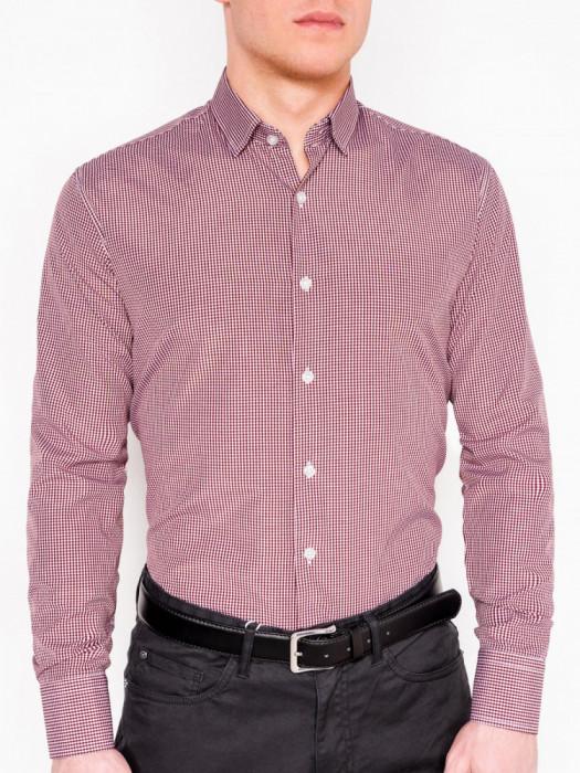 Camasa slim fit barbati K435 - rosu