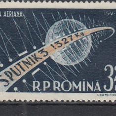 ROMANIA 1958 LP 460  AL III-lea SATELIT ARTIFICIAL AL PAMANTULUI-SPUTNIK III MNH