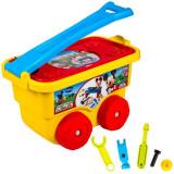 Set carucior cu unelte de jucarie, pentru copii, model mickey, 37x20x22 cm , multicolor