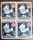 Romania 1957 Lp 438  bloc de 4 timbre Crucea rosie, Nestampilat