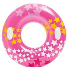 Colac pentru plaja Intex roz, mov cu stelute - MF006