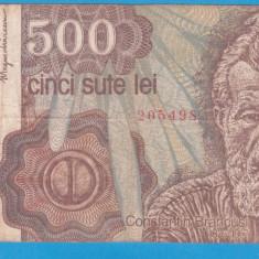 (2) BANCNOTA ROMANIA - 500 LEI 1991 (IANUARIE 1991), PORTRET BRANCUSI, MAI RARA