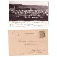 Gherla 1903 - Vedere, tren, ilustrata circulata
