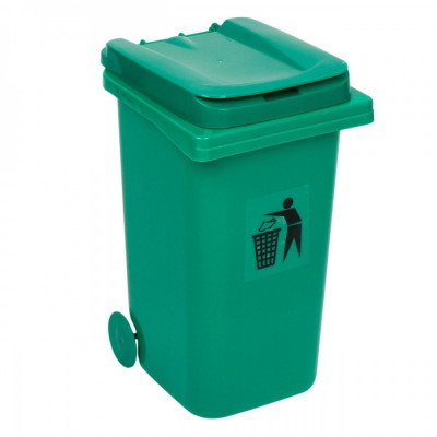 Mini cos de gunoi, 18x23x33 cm, verde foto