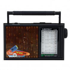 Radio retro de birou, 7 benzi frecventa, 220V, difuzor incorporat, Leotec