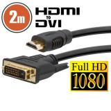 Cablu DVI-D / HDMI • 2 mcu conectoare placate cu aur