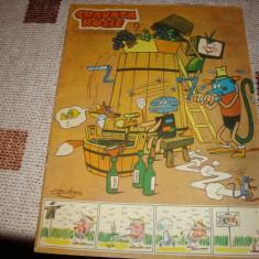 Revista Cravata rosie - nr 9 / 1967-benzi desenate Coca Cretoiu si Gopo