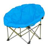 Scaun pliabil pentru camping Luna, 80 x 80 x 75 cm, structura metalica, maxim 110 kg, Albastru, General