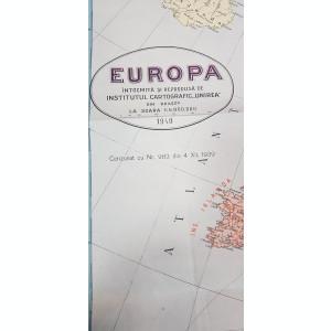 Harta EUROPA, 1940