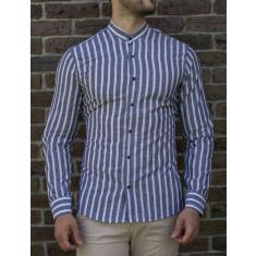 Camasa tunica dungi gri - camasa tunica LICHIDARE STOC camasa slim #195