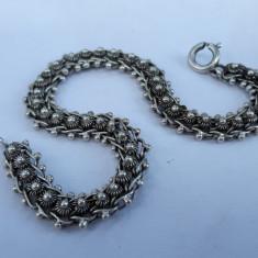 BRATARA argint TRIBALA marcaje multiple VECHI manopera EXCEPTIONALA finuta RARA
